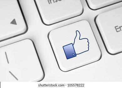 Like button on keyboard