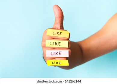 I like it four times. Internet digital marketing, viral, fans concept.
