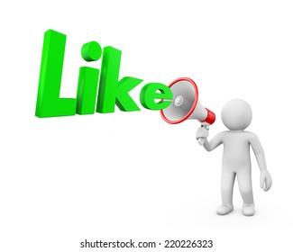 like and megaphone