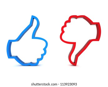 Like and Unlike symbol on white background