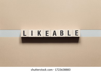 Likeable word concept on cubes