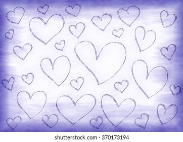 Lilac background with abstract hearts pattern