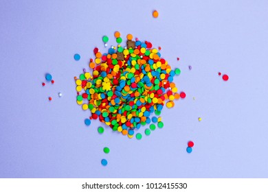 lilac background, confectionery sprinkling