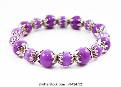 Lilac bracelet on white