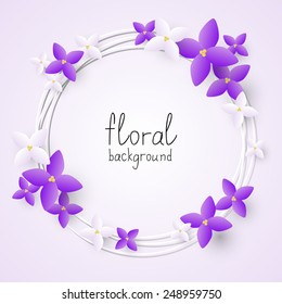 Lilac flowers frame for Your design