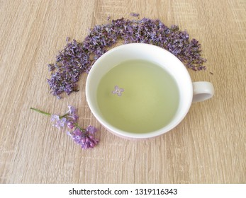 Lilac flowers tea and lilac flowers