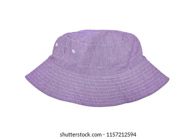 Lilac summer cotton Panama striped. Isolated on white.
