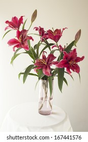 Lilies in vase..