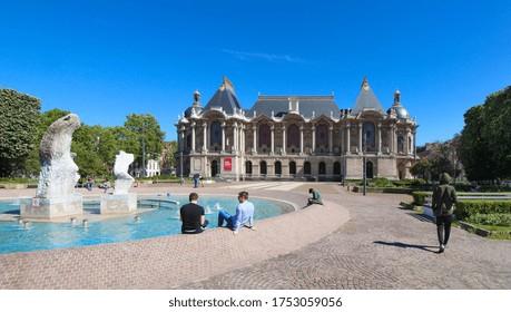 Lille, France - June. 2, 2020 : Palais des Beaux-Arts de Lille : Lille Palace of Fine Arts in french language, largest museum in France after Paris