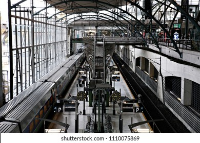 Lille,France Nov. 19, 2016. French trains sit in platform at Gare de Lille railway station.