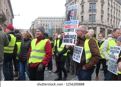 Lille.France.December 10th 2018.The Gilets Jaune demonstrate against President Macron in central Lille.