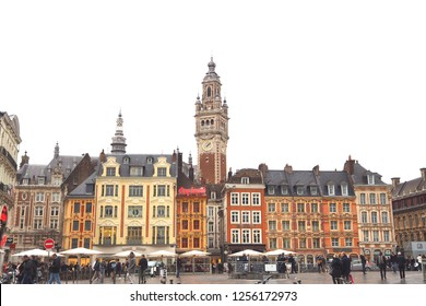 Lille.France.December 10th 2018.Lille Christmas market opens amid tight security.