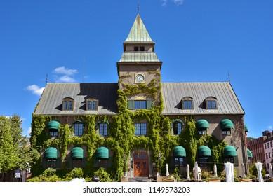 Lillehammer, Norway - Aug. 5, 2018: Hvelvet Restaurant, a popular restaurant in Lillehammer, Norway.