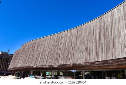 Lillehammer, Norway - Aug. 5, 2018: Lillehammer Art Museum, Lillehammer, Norway.