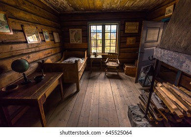 Lillehammer, Norway - May 13, 2017: Traditional houses in Maihaugen open air museum in Lillehammer, Norway