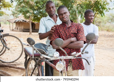 LILONGWE, MALAWI - SEPTEMBER 05 2009: Bicycles are a major form of transport in Malawi, with bicycles adapted to carry heavy loads and travel long distances.