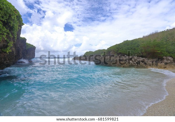 Lily beach is a small but popular beach on Christmas Island, an Australian territory in the Indian Ocean