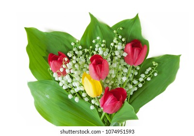 lily of the valley bunch isolated on white background