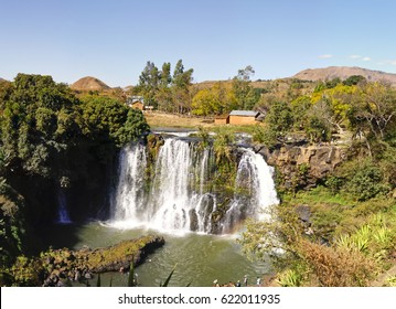 Lily waterfall of Ampefy, Madagascar highlands