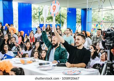 Lima, Peru - AUGUST 18th 2017: Entel Festival . Jury qualifier of the dance contest