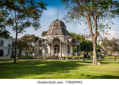 LIMA, PERU - CIRCA 2017: The Bizantine build in the Exposition Park circa 2017 in Lima, Peru