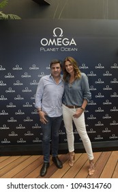 Lima, Peru- December 1, 2016: Cindy Crawford visited Lima for the opening of a Local Omega Boutique in Peru.