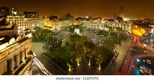 Lima, Peru, panoramic view of San Martin Square
