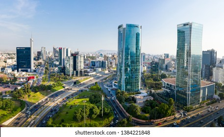 LIMA, PERU: Panoramic view of skyline in San Isidro district.