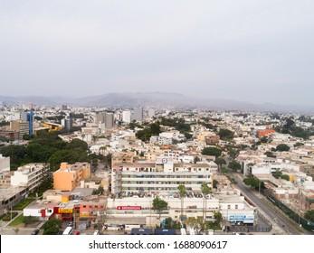 Lima, Lima / Peru-March 29th 2020: Casimiro Ulloa Hospital in Miraflores district, during the COVID19 quarantine lockdown.