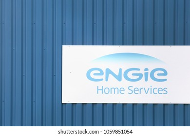 Limas, France - March 18, 2018: Engie is a French multinational electric utility company which operates in the fields of electricity generation and distribution, natural gas and renewable energy