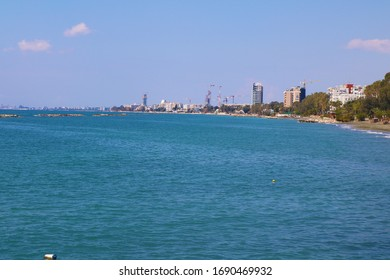 Limassol, Cyprus beach coast line