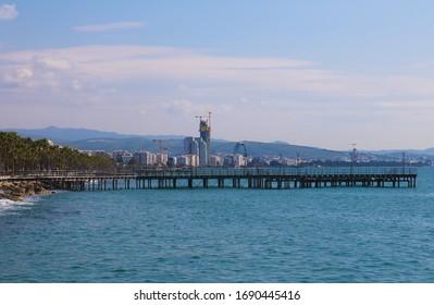 Limassol, Cyprus bridge on the marina