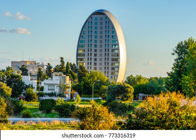 LIMASSOL, CYPRUS - November 22, 2017: Famous oval building, modern business center