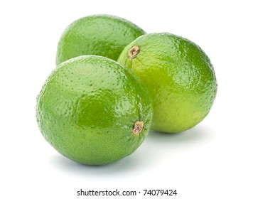 Lime citrus fruit closeup isolated on white