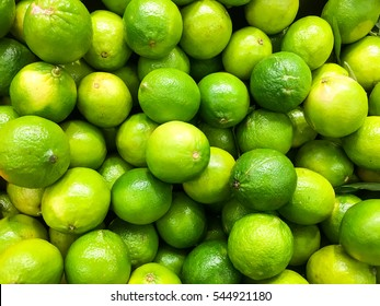 Lime Citrus Fruits In Fruit Market