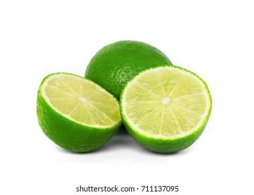lime fruit isolate on white background