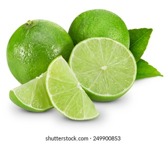 lime fruit isolated closeup