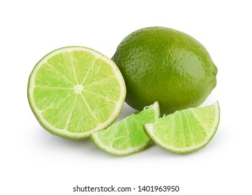 Lime fruit isolated on a white background