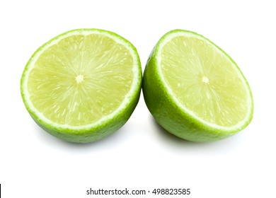 Lime fruit isolated on white