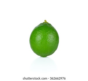 lime fruit on white background.