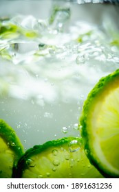 lime in a glass of water