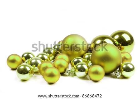 Lime Green Christmas Balls Stock Photo Edit Now 86868472