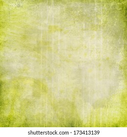 Lime Green Distressed Stained Textured Background