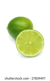 Lime isolated on white.