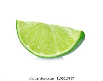 lime isolated on white background cutout