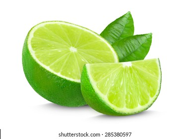 lime isolated on a white background