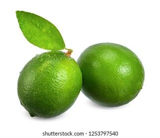 Lime isolated on white with clipping path.