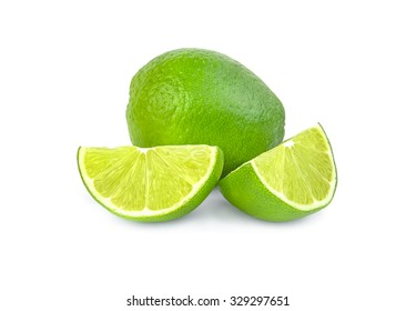Lime isolated on a white cutout.