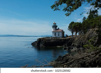 Lime Kiln Lighthouse on San Juan Island, Washington.