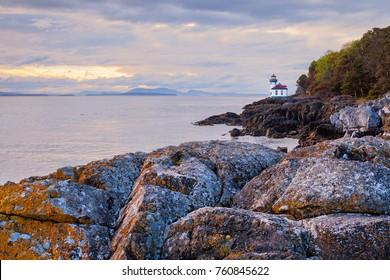 Lime Kiln lighthouse on San Juan Island, Washington